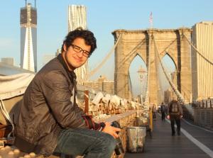 A sunny fall morning on the Brooklyn Bridge.  Photo by Kaoruko Nitohbe.