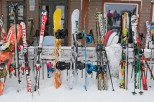 Skiing is as much about style as it is about skills. Here a sample of the trendy board and ski designs.