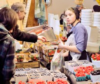The farmer's market at St. Jacobs, Ontario is part of the Mennonites' way of life.