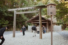 One of the many small shrines that make part of Ise Jingu