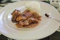 Goat glazed with ant sauce...a delicacy and typical dish from the Santander Region.